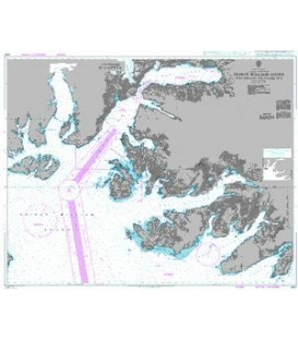 British Admiralty Nautical Chart 4981 Prince William Sound Port Fidalgo and Valdez Arm