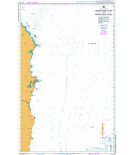 British Admiralty Australian Nautical Chart AUS 767 Wardlaws Point to Eddystone Point