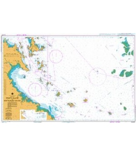 British Admiralty Australian Nautical Chart AUS824 Penrith Island to Whitsunday Island