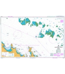 British Admiralty Australian Nautical Chart AUS825 Whitsunday Island to Bowen