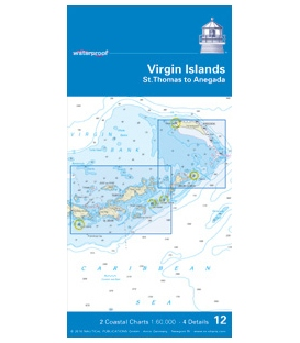 NV-Charts Charts Waterproof 12: Virgin IslandsSt. Thomas to Anegada, Edition 2010
