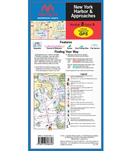 Maptech - New York Harbor and Approaches Waterproof Chart, 5th Edition, 2011