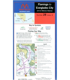 Maptech - Flamingo to Everglades City Waterproof Chart, 1st Edition, 1998