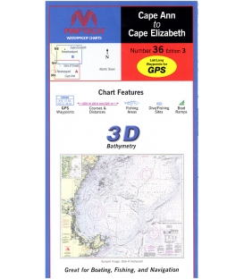 Maptech - Cape Ann to Cape Elizabeth Waterproof Chart, 3rd Edition