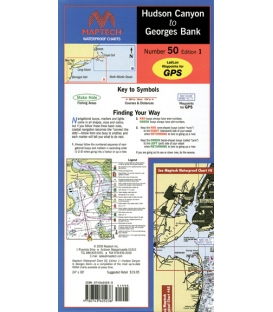 Maptech - Hudson Canyon to Georges Bank Waterpoof Chart