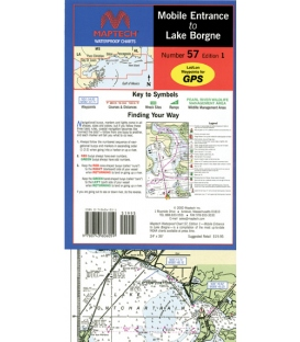 Maptech - Mobile Entrance to Lake Borgne Waterproof Chart