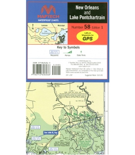 Maptech - New Orleans and Lake Pontchartrain Waterproof Chart