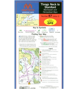 Maptech Waterproof Chart WPC087, Throgs Neck to Stamford, 1st Edition, 2003