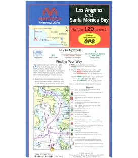 Maptech - Los Angeles and Santa Monica Bay Waterproof Chart
