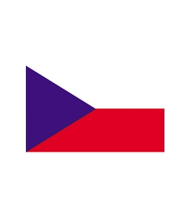 Czech Republic Courtesy Flag