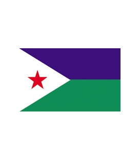 Djibouti Courtesy Flag