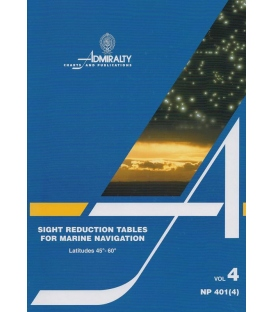 NP 401(4): Sight Reduction Tables for Marine Navigation Vol 4 Lat 45° - 60°, 1987 Ed.