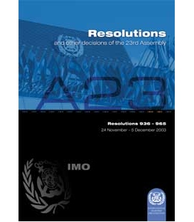 Resolutions: 23rd Session 2003 (Res. 9360965)