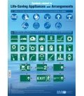 IMO IC981E Poster: Symbols related to Life-Saving Appliances and Arrangements, 2018 Edition