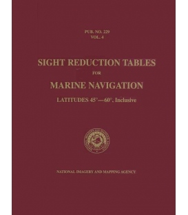 Pub 229, Volume 4: Sight Reduction Tables for Marine Navigation (Latitudes 45° - 60°, Inclusive)
