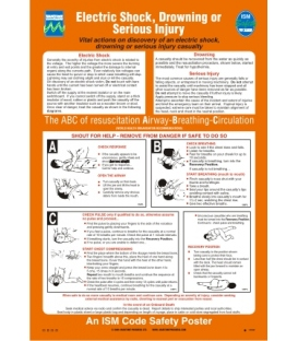 1009 Poster, Electric shock, drowning or serious injury