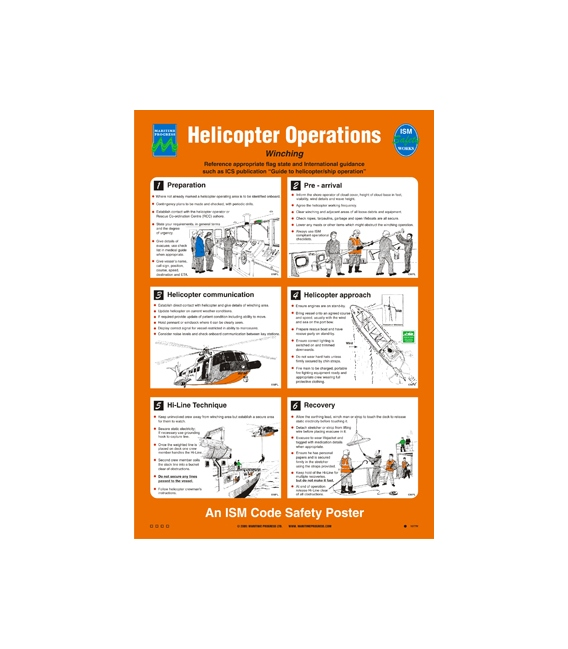 1077 Poster, Helicopter Operations - Winching