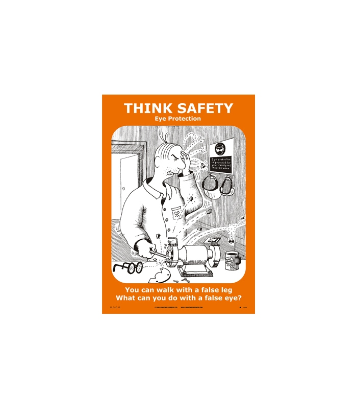 Safety Amp Training Posters Think Safety White Vinyl