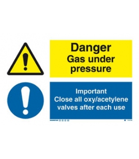 3101 Danger exp. risk / Important Close all oxy/acetylene...