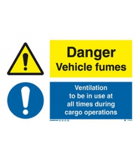 3103 Danger vehicle fumes / Ventilation to be in use...