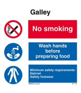 3124 Galley combination sign
