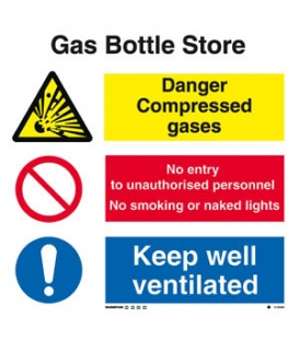 3125 Gas bottle store combination sign