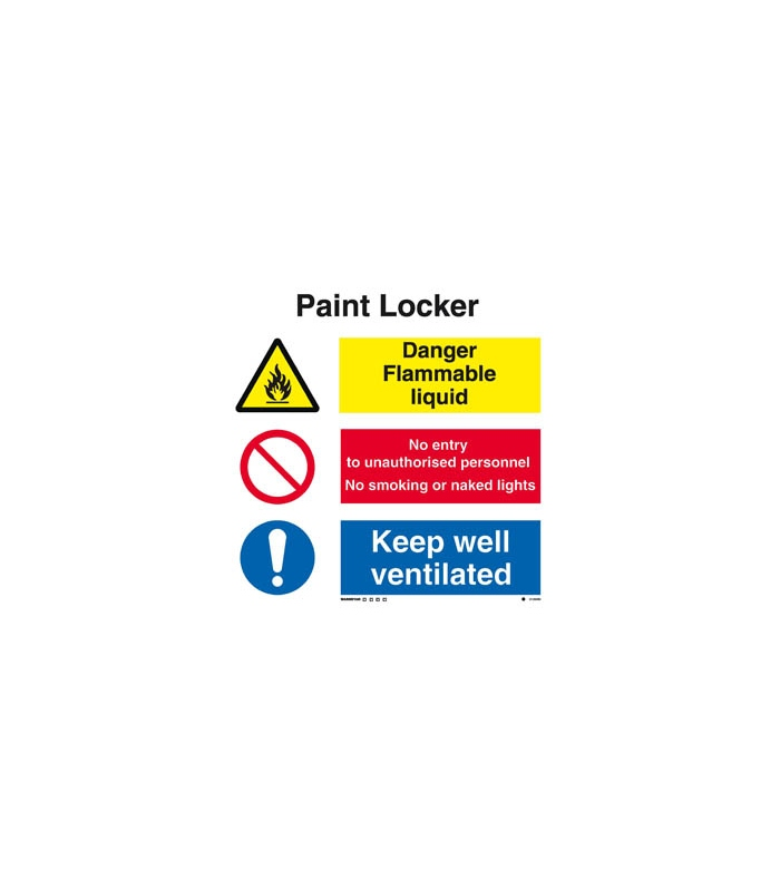 flammable sign combination signs white rigid pvc pump room combination sign