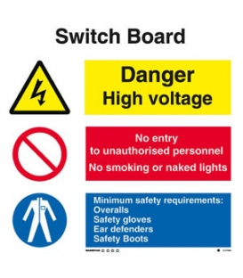 3127 Switch board combination sign