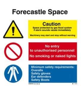 3128 Forecastle space combination sign