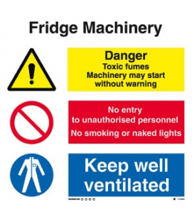 3129 Fridge machinery combination sign