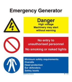 3135 Emergency generator combination sign