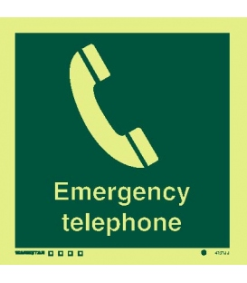 4131 Emergency telephone - with text