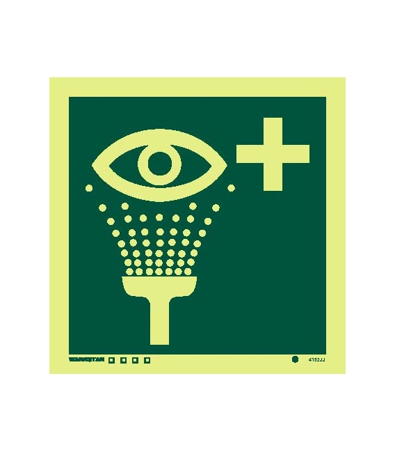 Safety Signs Photoluminescent Rigid Pvc Emergency Eye