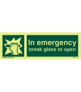 4195 In emergency break glass to open