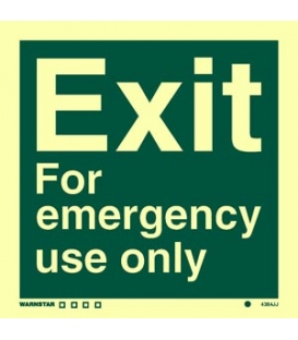 4384 Exit - For emergency use only - text only