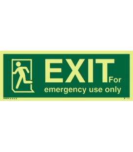 4412 EXIT for emergency use only + Running man on left