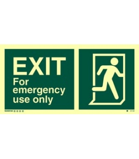 4417 EXIT for emergency use only + Running man on right