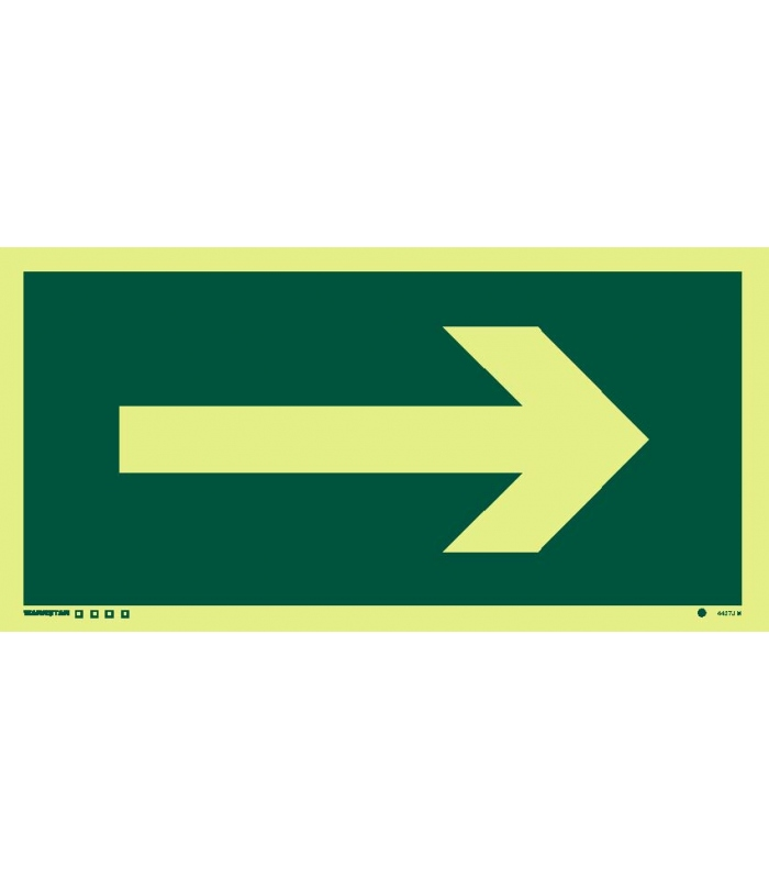 Safety Signs Photoluminescent Rigid Pvc Arrow Rotatable To Point