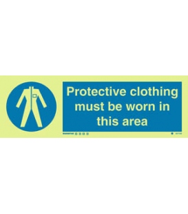 5677 Protective clothing must be worn in this area + symbol