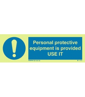 5678 Personal protective equipment is provided. USE IT + symbol