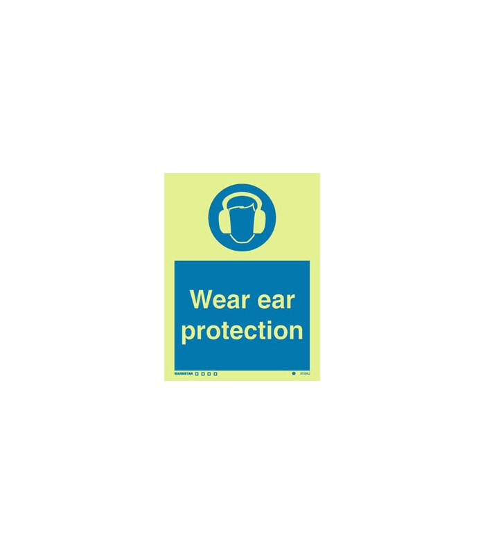 Mandatory Signs Photoluminescent Rigid Pvc Wear Ear Protection