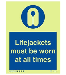 5742 Lifejackets must be worn at all times + symbol