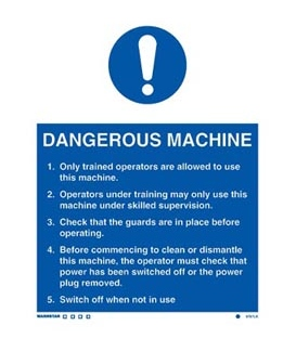 5757 Dangerous Machine (Safety Instructions.)
