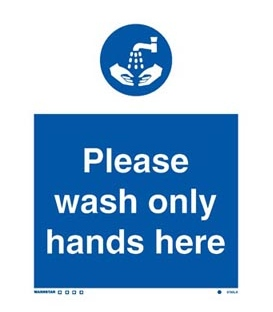 5760 Please wash only hands here.