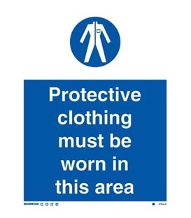 5764 Protective Clothing must be worn in this area.