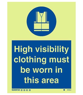 5782 High visibility clothing must be worn in this area + symbol