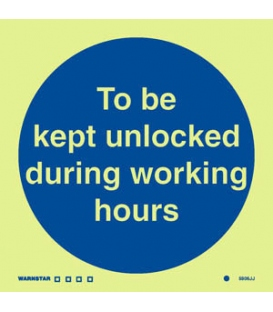 5806 To be kept unlocked during working hours