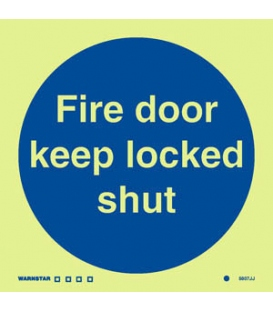 5807 Fire door keep locked shut