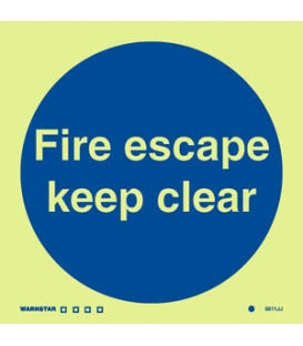 5811 Fire escape keep clear