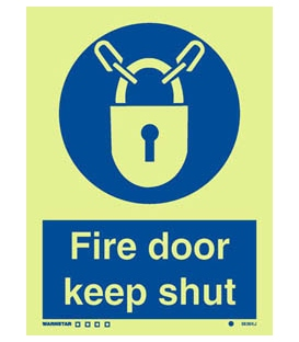 5838 Fire door keep locked + Lock symbol